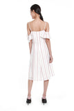 Penelope Cold Shoulder Stripe Dress