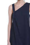 Liv Toga Dress in Navy