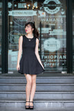 Linda Fit and Flare Drop Waist  Dress in Black - Mint Ooak - Dress - 3