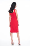 Maia Knot Tie Midi in Red