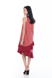 Leia Assymetrical Colour Block Ruffle Dress