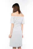 Bev Off-Shoulder Tie Dress
