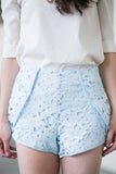 Xris Crochet Peplum Shorts - Mint Ooak - Bottom - 4