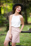 Jean Tailored Pleated Culottes in Dusty Pink - Mint Ooak - Bottom - 2