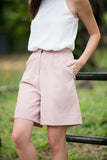 Jean Tailored Pleated Culottes in Dusty Pink - Mint Ooak - Bottom - 6
