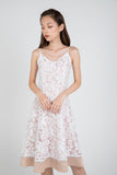 Cher Organza Lace Satin Skater in White