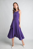 Ariel Tiered Hem Maxi In Royal Purple