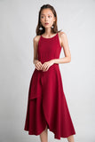 Ariel Tiered Hem Maxi In Wine