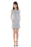 Lydia Classic Pocket Shift In Heather Grey - Mint Ooak - Dress - 4