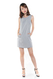 Lydia Classic Pocket Shift In Heather Grey - Mint Ooak - Dress - 1
