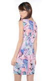 Sally Digital Print Cap-Sleeved Dress In Pink - Mint Ooak - Dress - 5