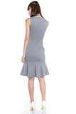 Sarah Mermaid Hem Embossed Dress In Grey - Mint Ooak - Dress - 7