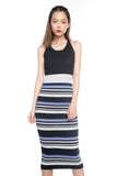 Ally-Stripes Knitted Midi