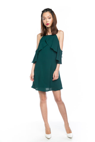 Angie Flutter 2 way Dress in Forest
