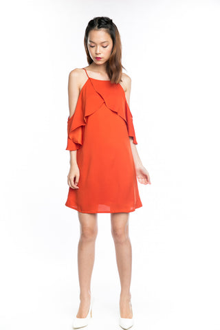 Angie Flutter 2 way Dress in Burnt Orange