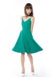 Ella Spag Midi in Green - Mint Ooak - Dress - 4