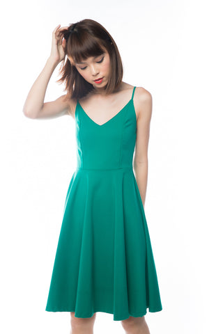 Ella Spag Midi in Green - Mint Ooak - Dress - 1