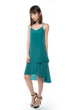 Kane Tiered Free Flow Dress in Green - Mint Ooak - Dress - 4