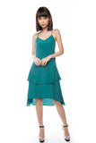 Kane Tiered Free Flow Dress in Green - Mint Ooak - Dress - 5