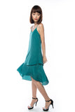 Kane Tiered Free Flow Dress in Green - Mint Ooak - Dress - 1