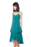 Kane Tiered Free Flow Dress in Green - Mint Ooak - Dress - 6