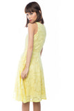 Natellie Cloud Midi Skater in Yellow - Mint Ooak - Dress - 5