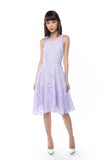Natellie Cloud Midi Skater in Lilac - Mint Ooak - Dress - 2