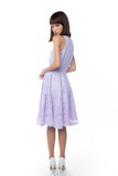 Natellie Cloud Midi Skater in Lilac - Mint Ooak - Dress - 5