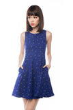 Fay 3 way Cheongsam Dress in Blue - Mint Ooak - Dress - 4