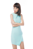 Magdalein Quilted Cross Front Dress in Mint - Mint Ooak - Dress - 4