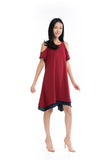 Cailyn Reversible Cold Should Dress in Red