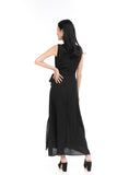 Aubrey Tux Maxi Dress in Black