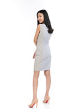 Brielle Colour Block shift in Grey