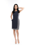 Brielle Colour Block shift in Navy