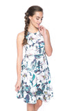 Lowry Cut-in Floral Skater Midi - Mint Ooak - Dress - 3