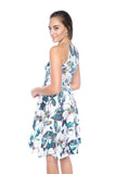 Lowry Cut-in Floral Skater Midi - Mint Ooak - Dress - 4