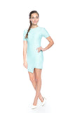 Evon Quilted Cross over dress in Mint - Mint Ooak - Dress - 2