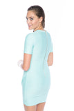 Evon Quilted Cross over dress in Mint - Mint Ooak - Dress - 6