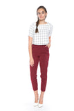 Lilian Tailored Pants in Wine - Mint Ooak - Bottom - 2