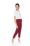 Lilian Tailored Pants in Wine - Mint Ooak - Bottom - 3
