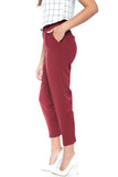 Lilian Tailored Pants in Wine - Mint Ooak - Bottom - 4