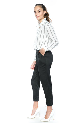 Lilian Tailored Pants in Black - Mint Ooak - Bottom - 1