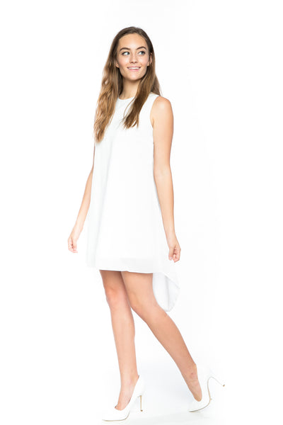 Dawnette High-low Dress in White - Mint Ooak - Dress - 1