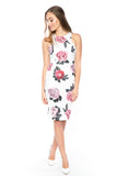 Serena Floral Midi with Side Slit in white - Mint Ooak - Dress - 2