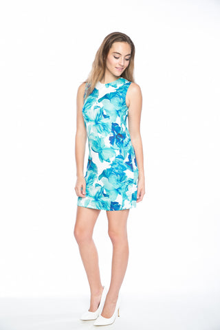 Lily Floral Shift Dress - Mint Ooak - Dress - 1