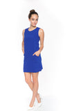 Delfina Panel Shift in Cobalt - Mint Ooak - Dress - 1