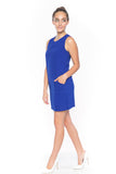 Delfina Panel Shift in Cobalt - Mint Ooak - Dress - 2