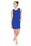 Delfina Panel Shift in Cobalt - Mint Ooak - Dress - 3