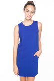 Delfina Panel Shift in Cobalt - Mint Ooak - Dress - 4
