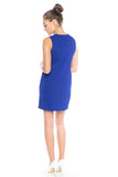 Delfina Panel Shift in Cobalt - Mint Ooak - Dress - 5